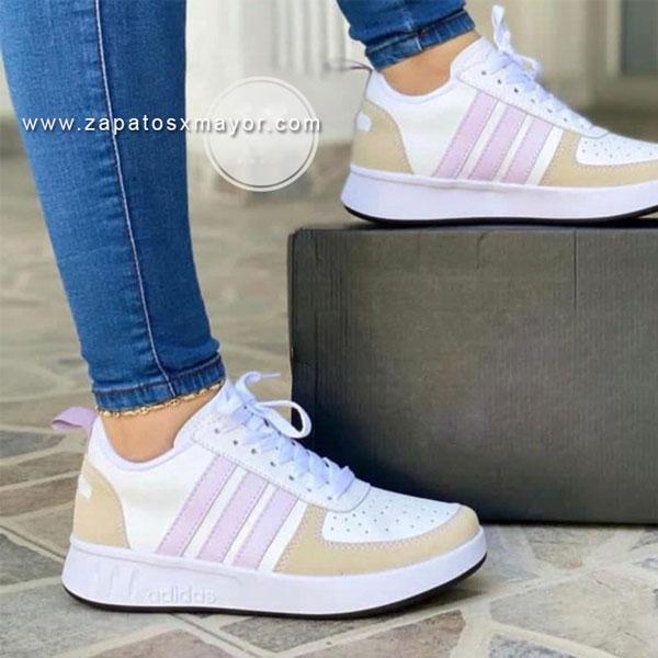 tenis mujer blanco morado 2021 zapatillas