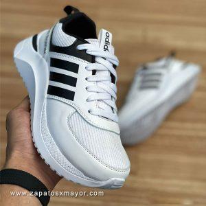 tenis mujer blancos x negro zapato deportivo 2022