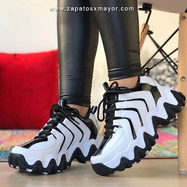 Zapatillas Chunky blancas tenis moda mujer