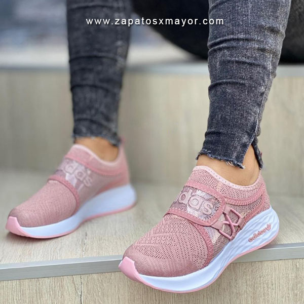 tenis mujer casual rosado 2021 zapato deportivo
