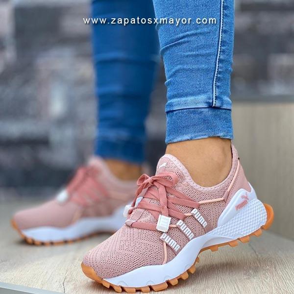 tenis mujer rosado oro rosa zapatos moda 2021