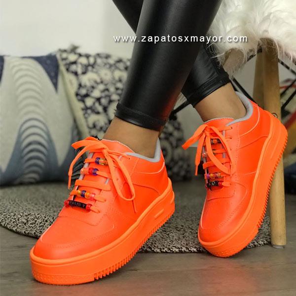 tenis naranjados para mujer zapatos colombianos 2022