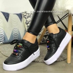 tenis negros mujer 2020 zapatos moda casual