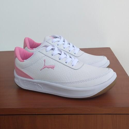 tenis puma mujer blancos con rosado