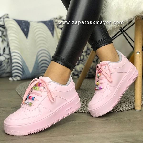 tenis rosados mujer 2021 zapatos moda casual