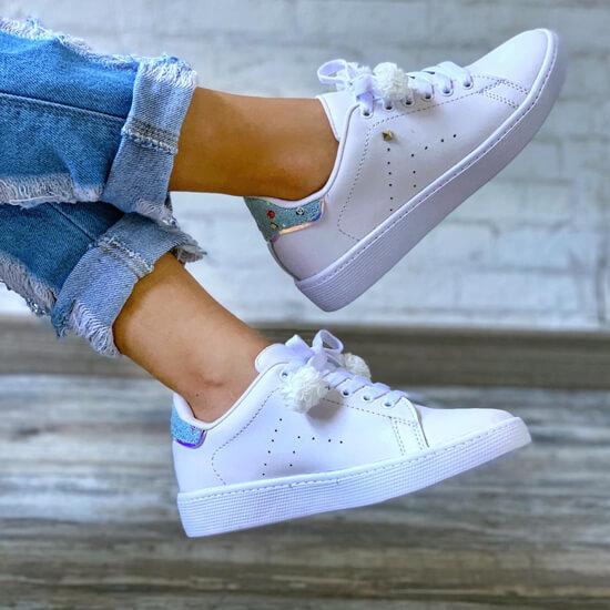 Tenis Casual Blanco x Azul