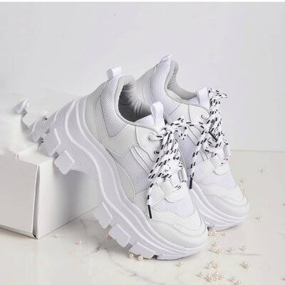 Tenis suela alta para mujer zapatos por mayor