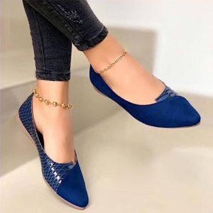 Baleta azul para mujer