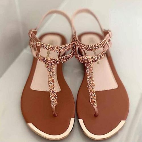 Sandalias murano para mujer sandalia plana dorada