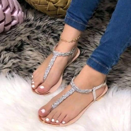 Sandalias murano para mujer sandalia plana color plata