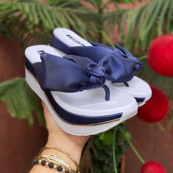 sandalia mujer moda 2021 azul