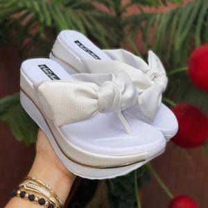 sandalias plataforma para mujer color blanca 2021 ref-215