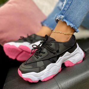 Tenis moda para mujer tenis negros chunky sneakers