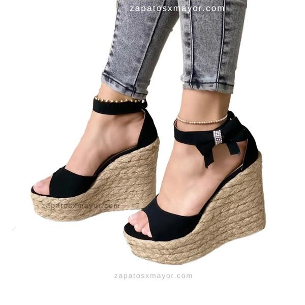 Sandalia Plataforma Elegante color Negro