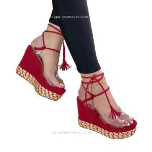 Sandalia Plataforma yute de moda 2021
