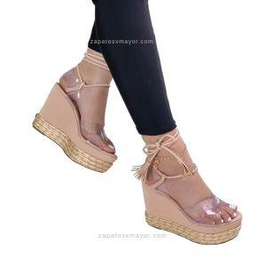 Sandalia Plataformas Altas Yute de moda