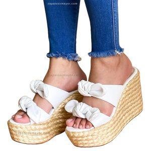 Sandalias altas en Yute para Dama 2021