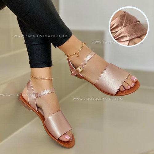 sandalia plana de moda
