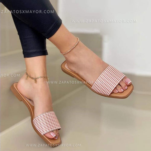 Sandalia plana elegante dama
