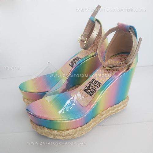 sandalias yute altas plataforma moda mujer