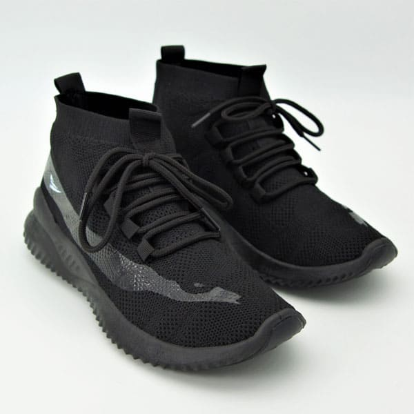 zapatillas moda mujer tenis negros dama